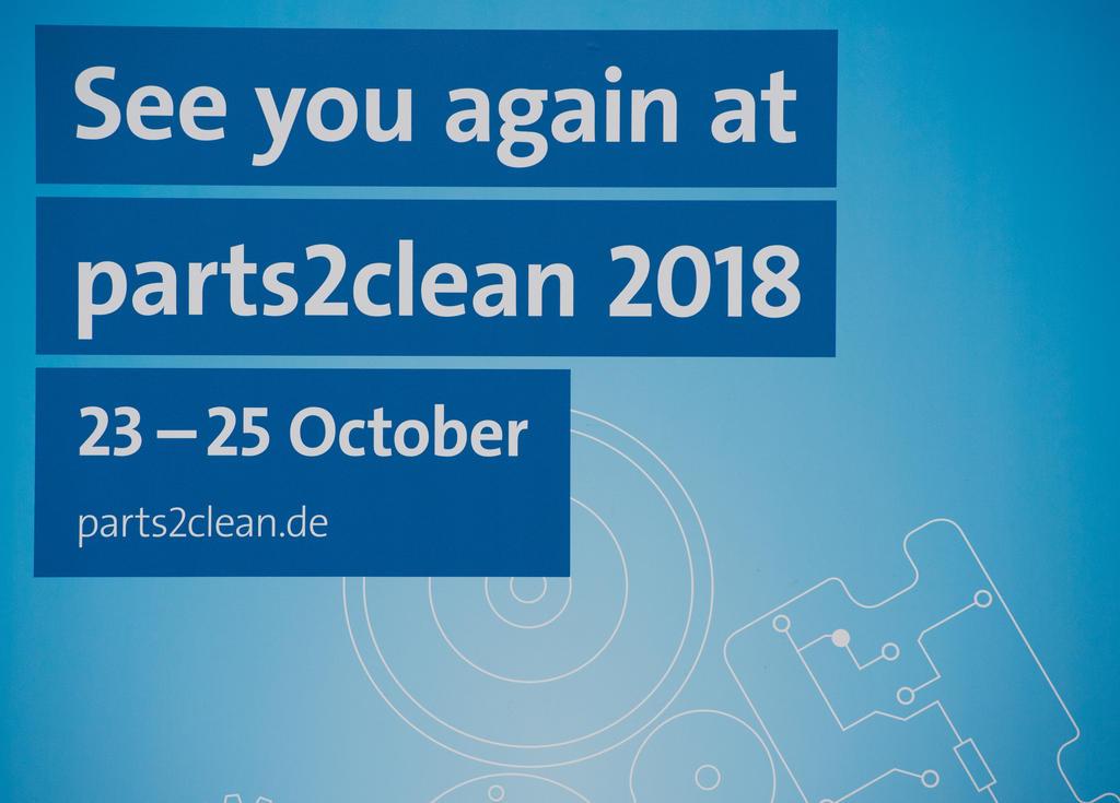 parts2clean, 24. - 26. Oktober 2017